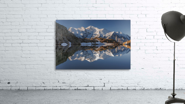 White in Black (Mont Blanc in Lac Noir), French Alps