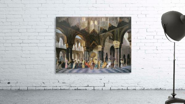 Interior of an oriental mosque