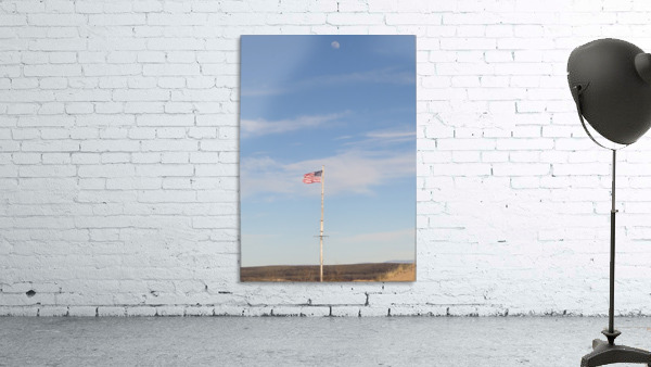 Moon and American Flag over Fort Craig VP1
