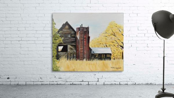 Golden Aged Barn -Washington - Red Silo