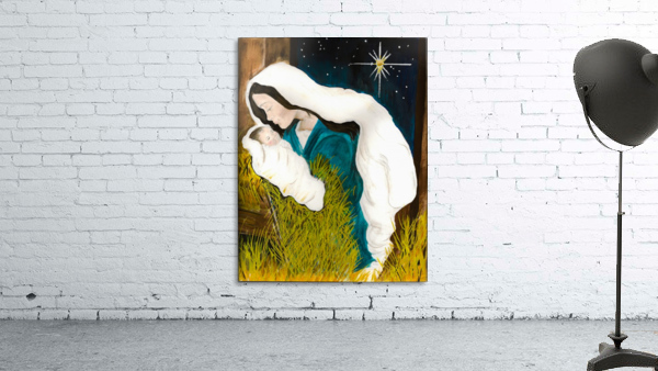 Unto us a Child is Born - Mary and Baby Jesus