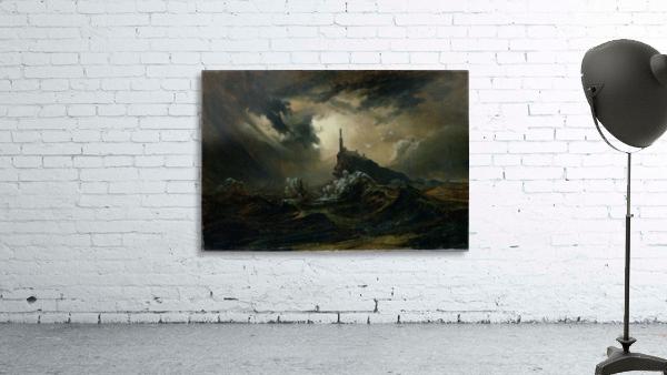 Sturmische See mit Leuchtturm