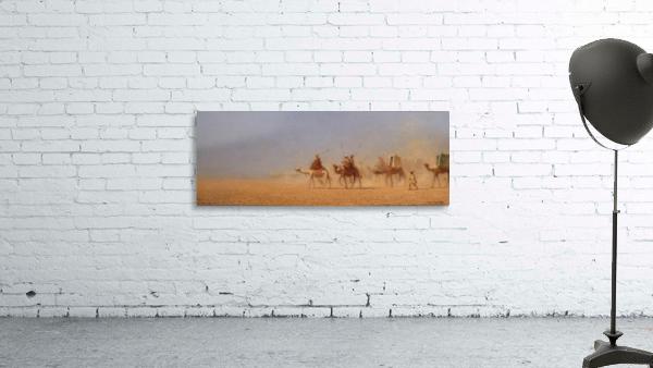 Caravanes traversant le desert