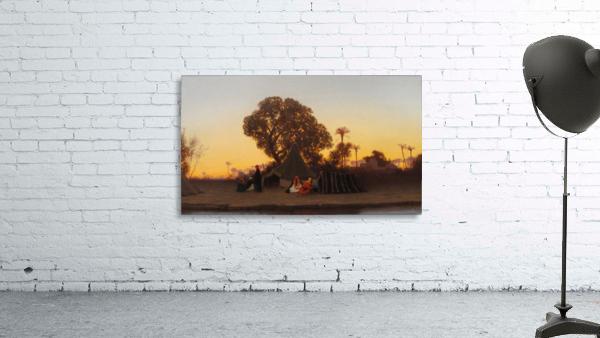 Arab encampment at sunset