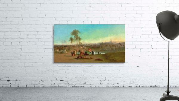 A Camel Train at an Oasis, Cairo Beyond 1853