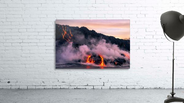 Sunrise at the lava flow