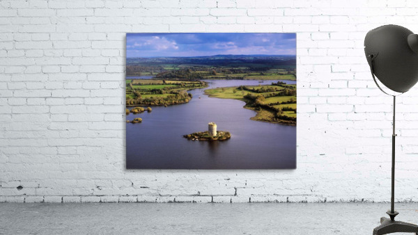 Cloughoughter Castle, Co Cavan, Ireland; Aerial View Of Lough Oughter And 13Th Century Castle Built On The Possible Site Of A Crannog