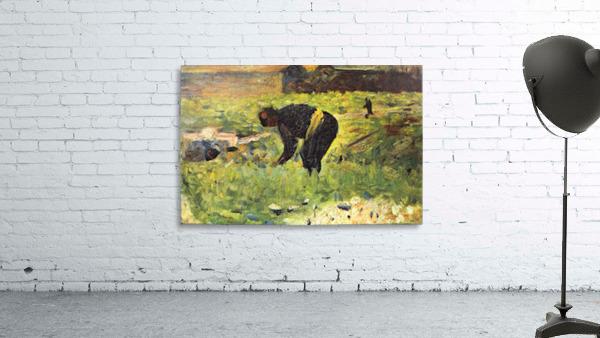 Farmer at work by Seurat