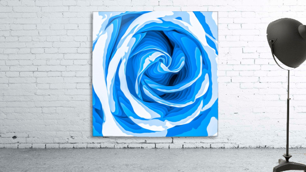 closeup blue rose texture abstract background