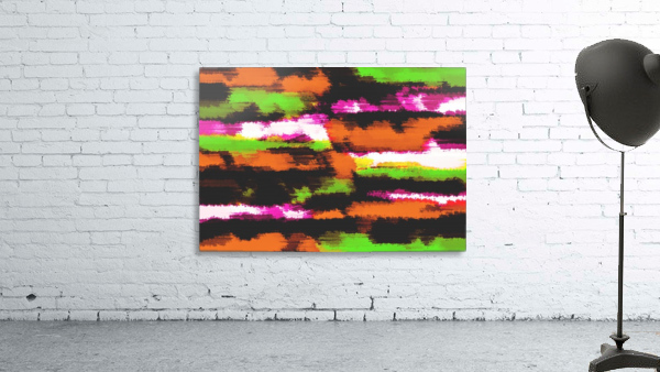orange black pink green grunge painting texture abstract background