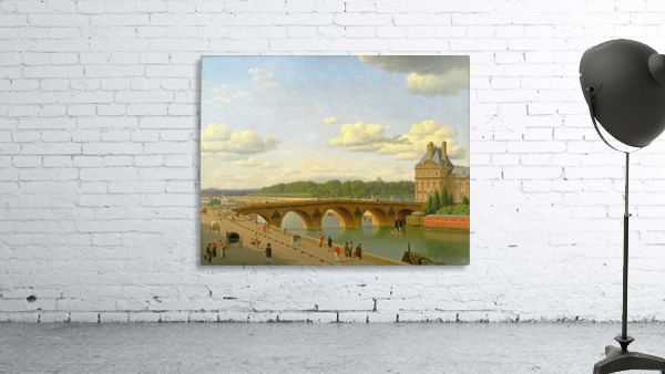 View at Pont Royal from Voltaire Quai in Paris