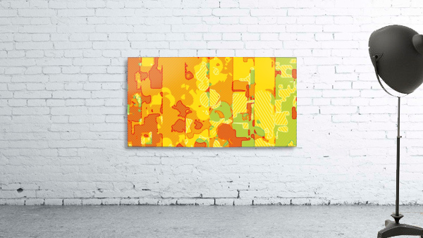 graffiti drawing abstract pattern in yellow brown and blue
