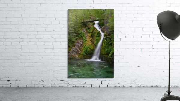 Full view of Sullivan Falls in the Opal Creek Wilderness, Oregon