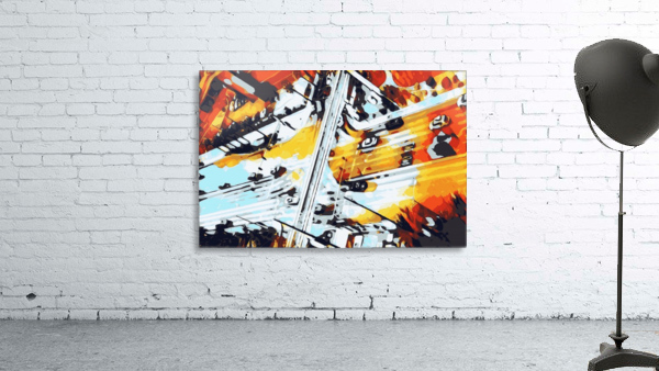 road in the city geometric abstract background
