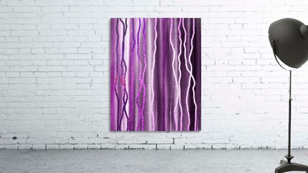 Organic Lines Purple Abstract