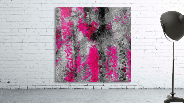 vintage psychedelic painting texture abstract in pink and black with noise and grain