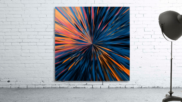 psychedelic splash painting abstract pattern in orange brown pink blue
