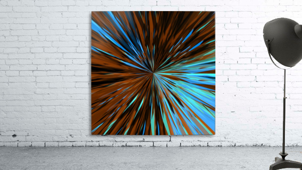 psychedelic splash painting abstract pattern in brown and blue