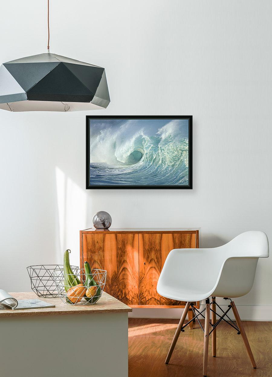 Huge Wave Curling, Crashing Side View Of Curl C1723  Art