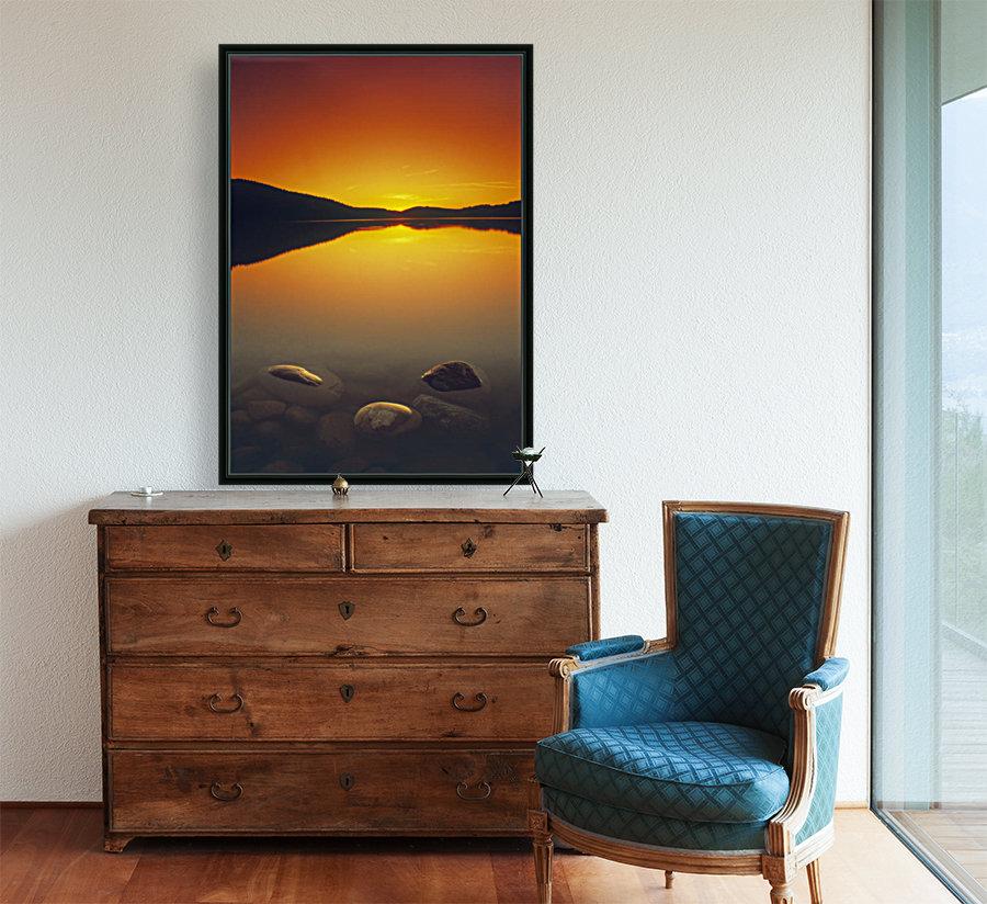 Reesor Lake At Sunset, Cypress Hills Interprovincial Park, Elkwater, Alberta, Canada  Art