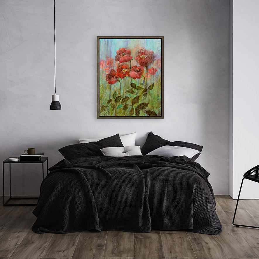 Poppies In Pastel Red  Art