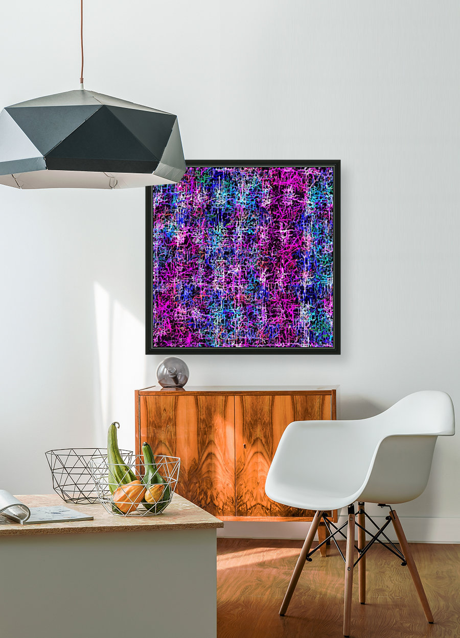psychedelic abstract art pattern texture background in pink blue black  Art