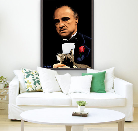 Marlon Brando - The Godfather with Floating Frame