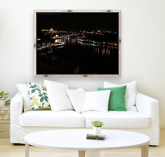 Oporto Night ligths with Floating Frame