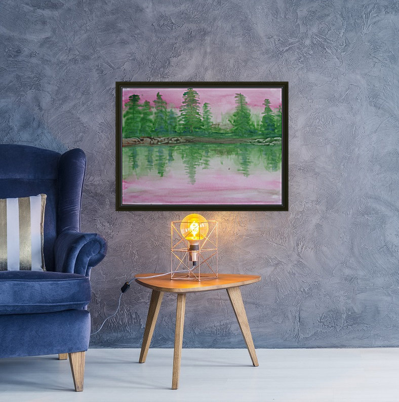Reflections in the lake.  Art