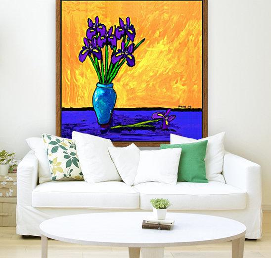 IRIS BOUQUET ON YELLOW  Art