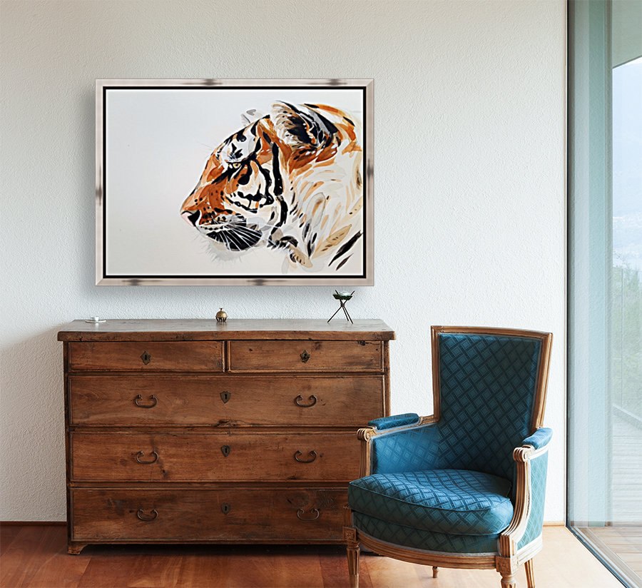 tiger with Floating Frame