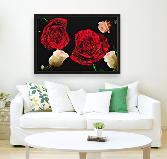 Crazy Roses with Floating Frame
