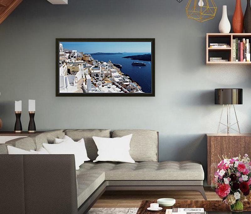 Super panoramic view - Santorini - Greece  Art