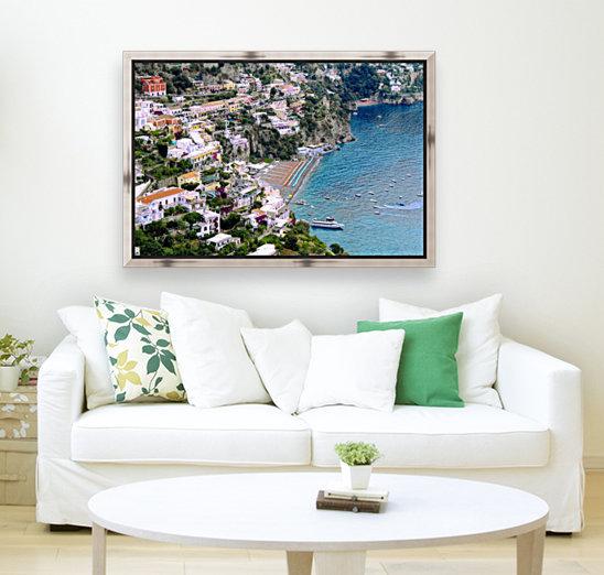 Aerial view of Positano Beach - Italy  Art