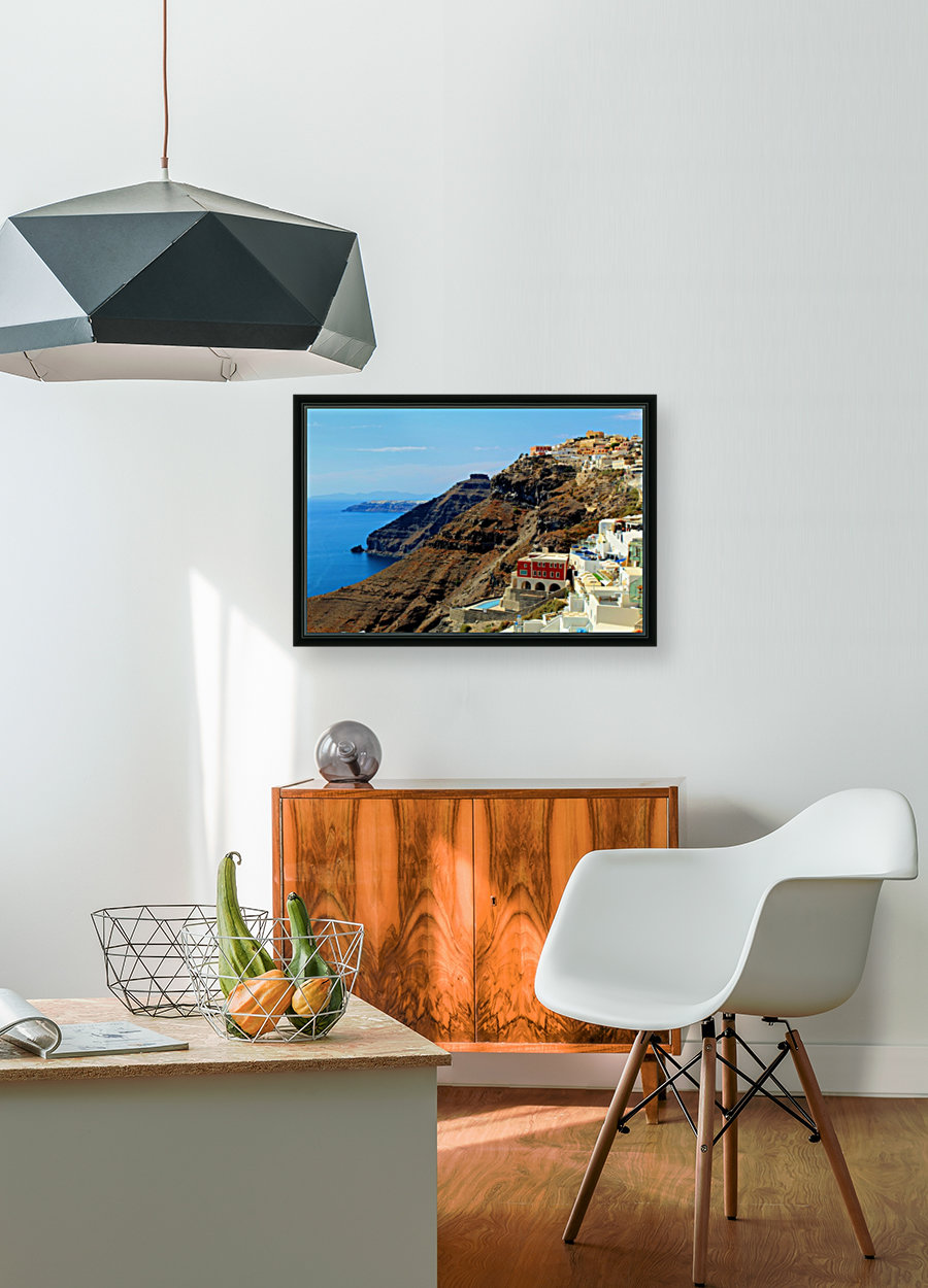 Santorini Mountains Landscape - Greece  Art
