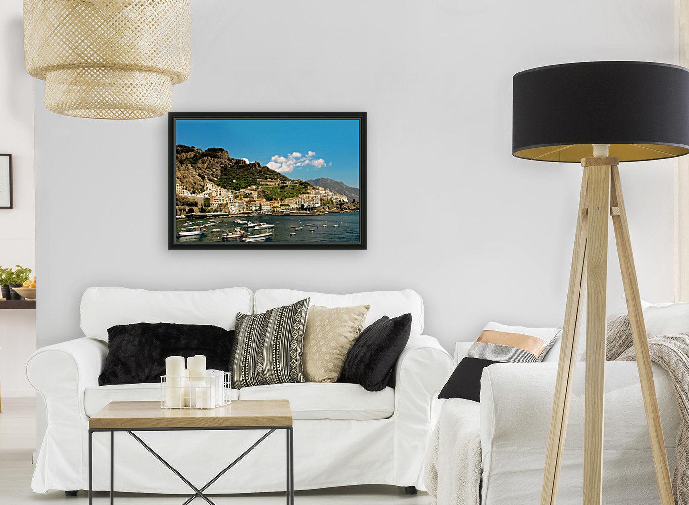 Amalfi Town - Panoramic View - Italy  Art