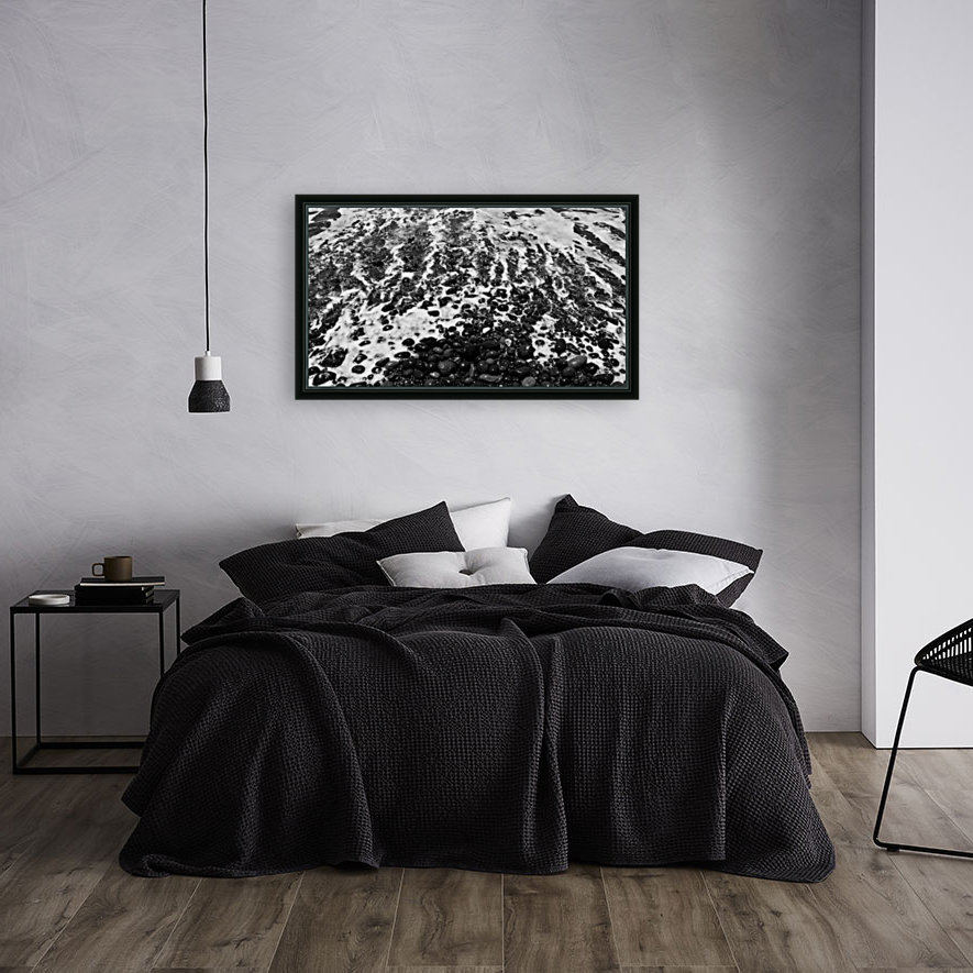 The Beach - Ocean waves in Black and White  Art