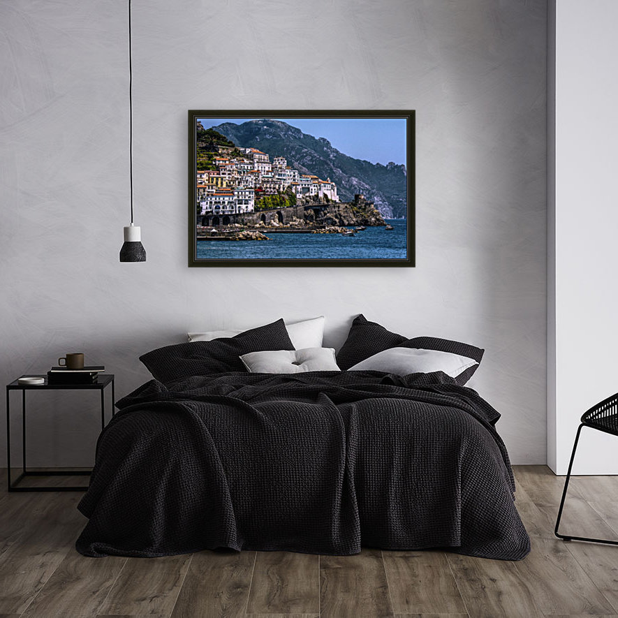 Artistic Amalfi Coast Landscape with Floating Frame