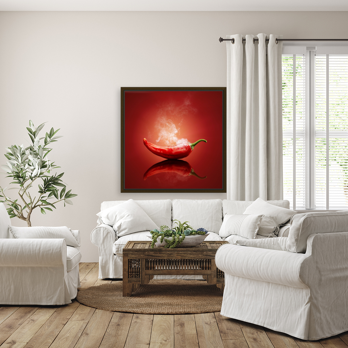 Chili red steaming hot  Art