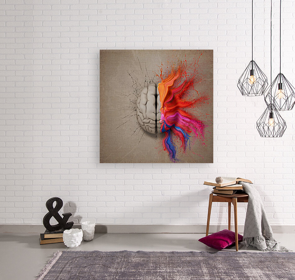 The Creative Brain with Floating Frame