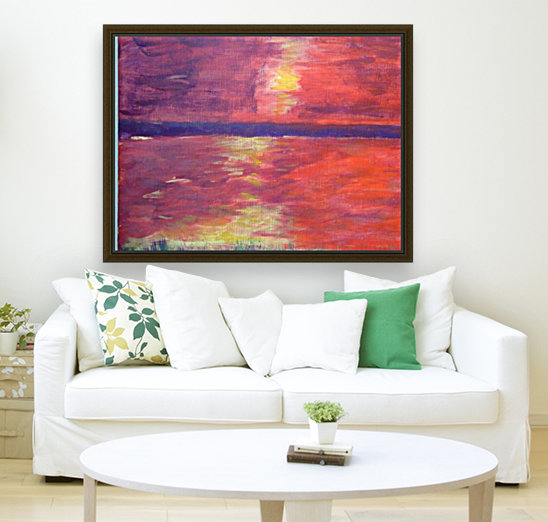 Red Abstract Sunset  Art