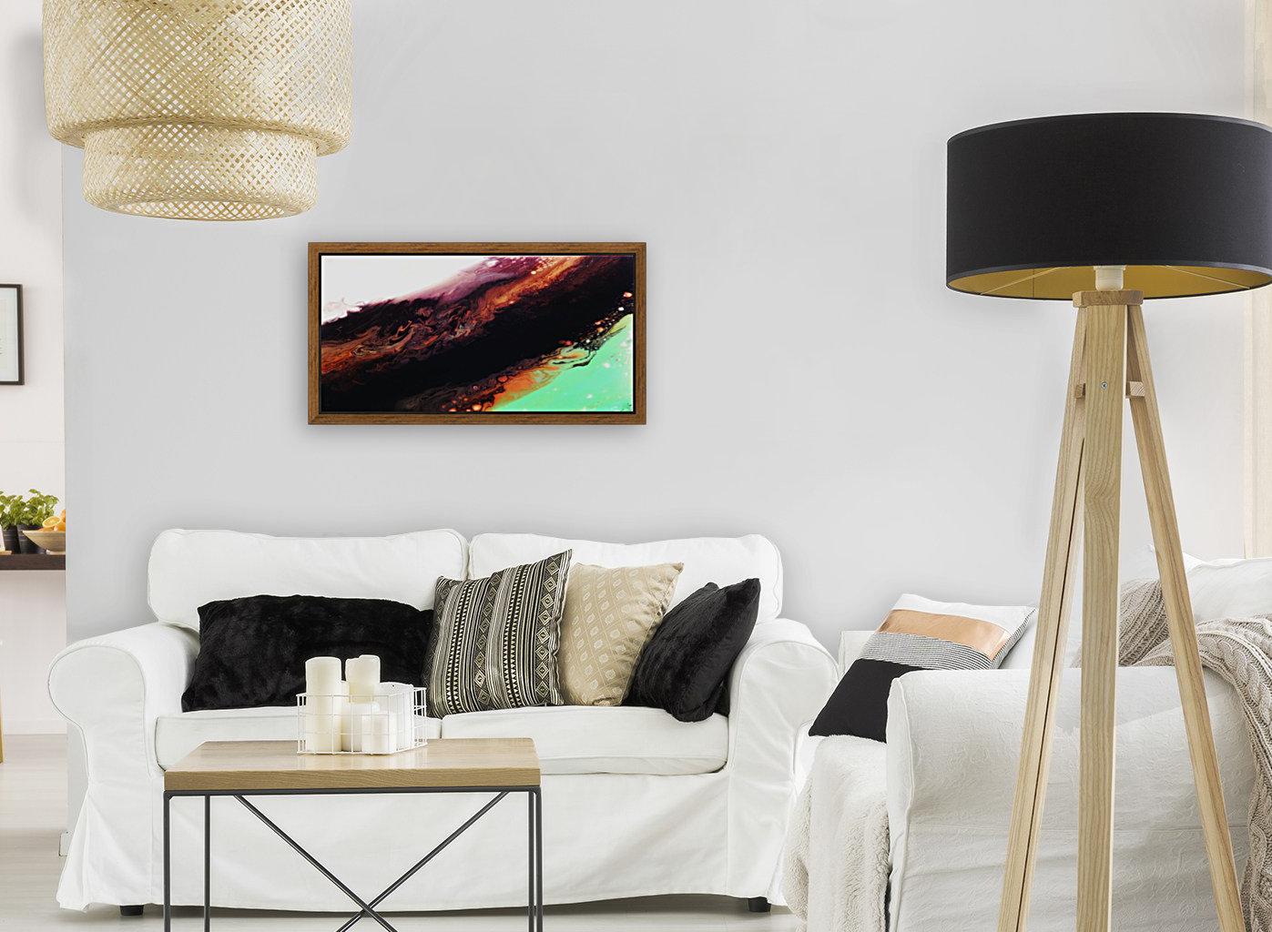 Agate Minimalist Abstract Canvas Painting Metal Artwork  Art