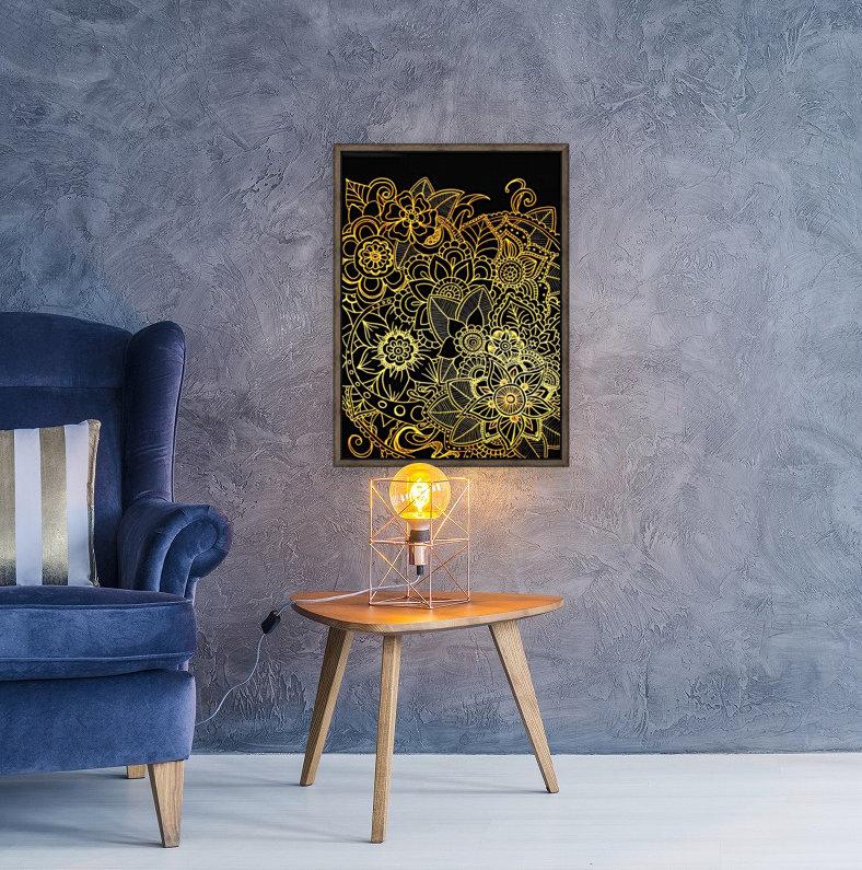 Floral Doodle Gold G523  Art