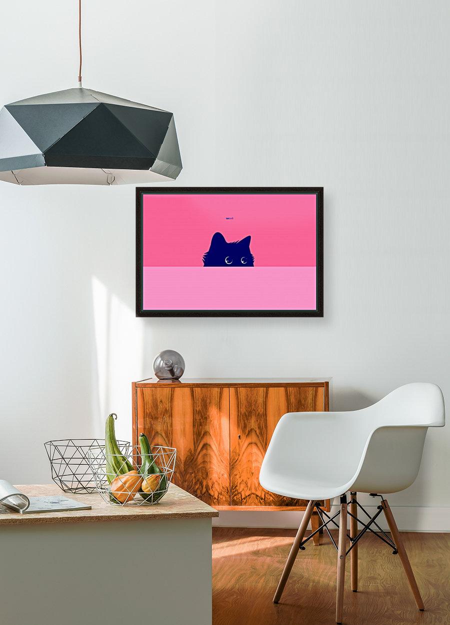 Cat on Deep Pink  Art