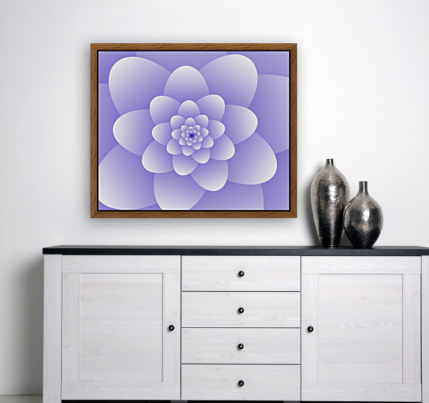 Purple Floral Spiral Artwork  Art