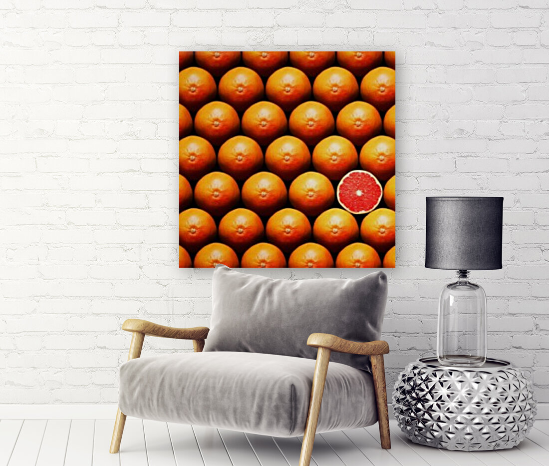 Grapefruit slice between group  Art