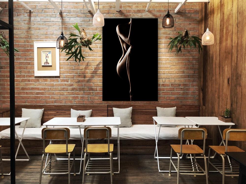 Silhouette of nude woman  Art