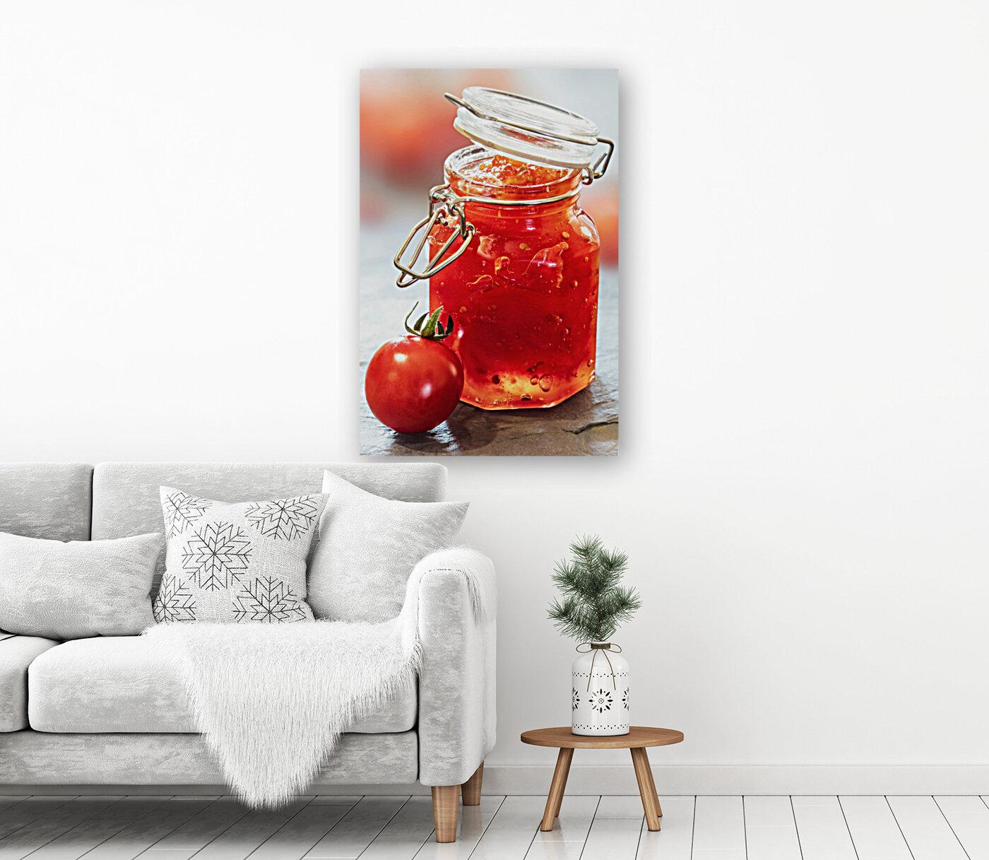 Tomato Jam in Glass Jar  Art
