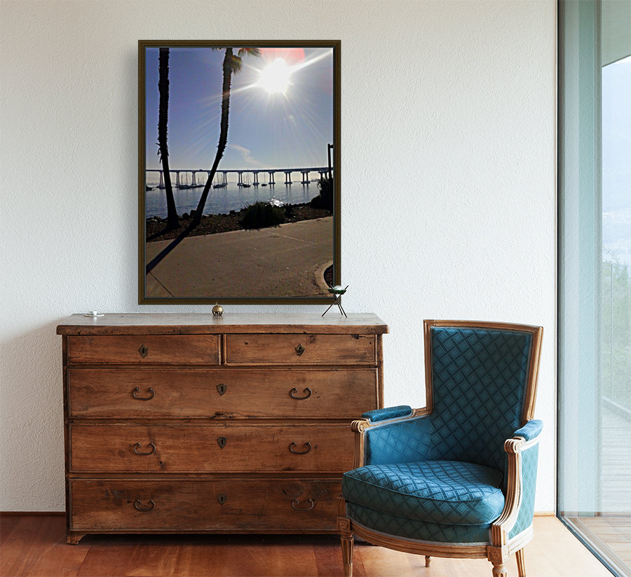 Coronado Island, San Diego, Ca with Floating Frame
