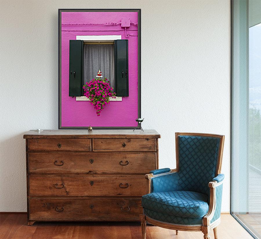 Colored window in Burano  Art